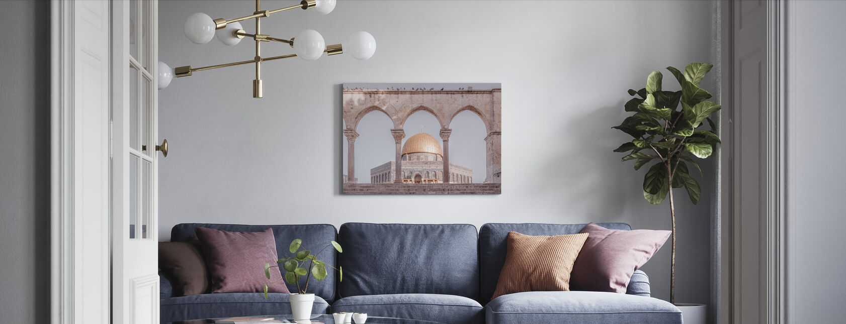 Al-Aqsa Mosque - Jerusalem - Canvas print - Living Room