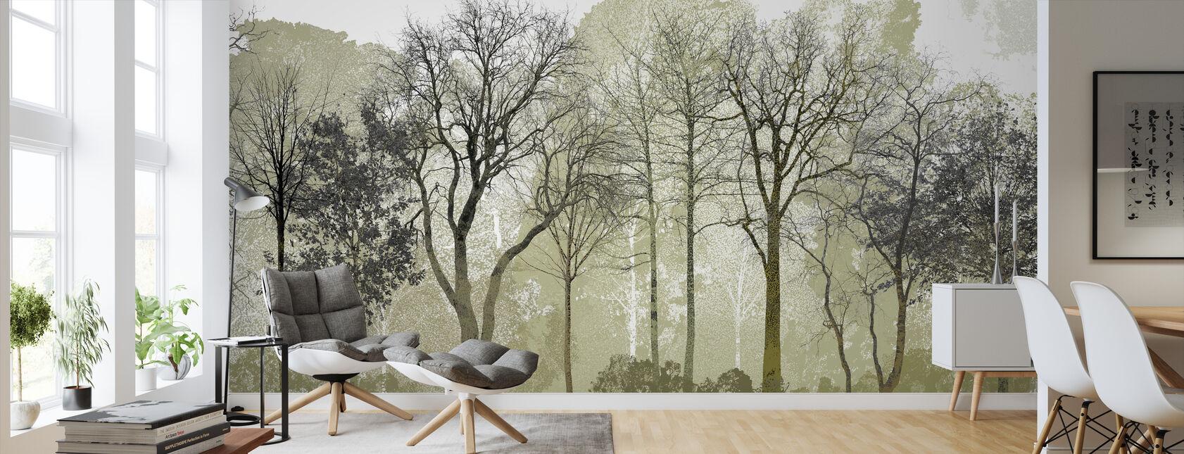 Våren i skogen - Tapet - Vardagsrum