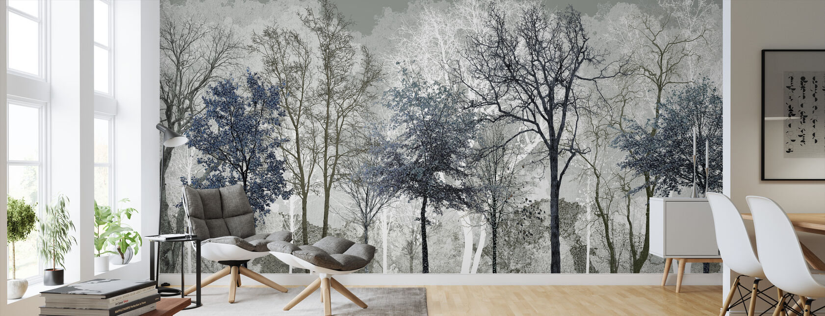 Winter Blues in the Woods - Wallpaper - Living Room