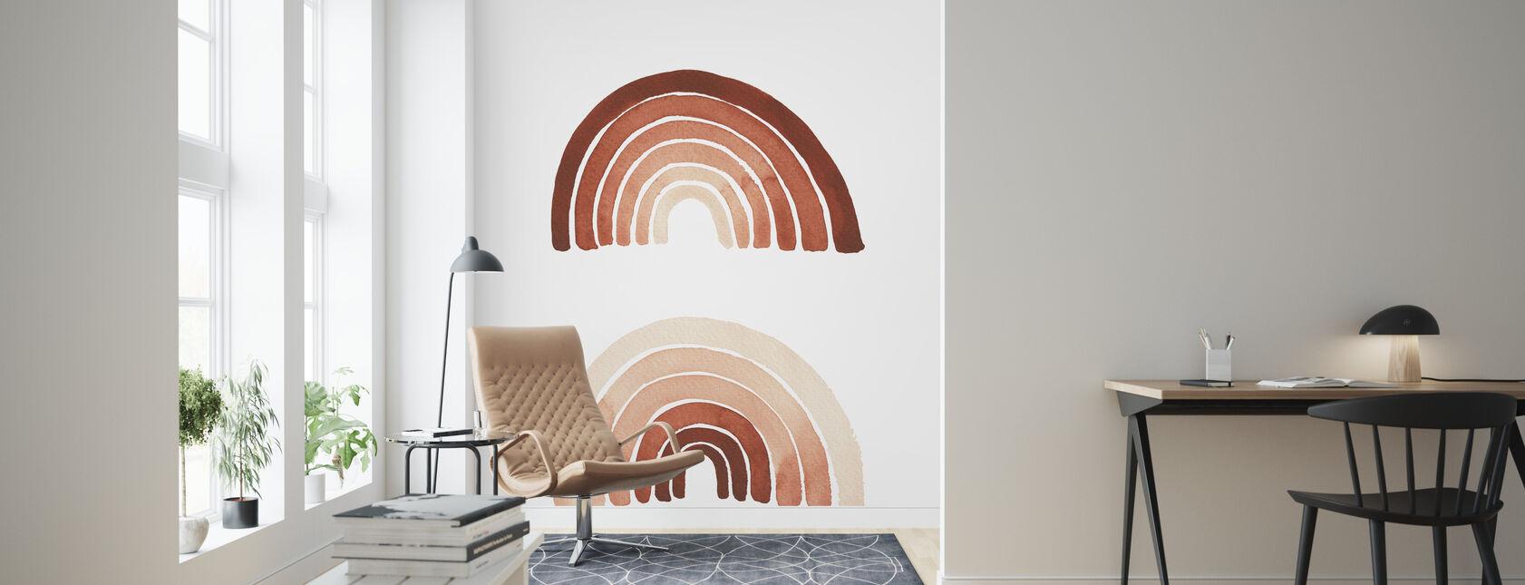 Orange Rainbow - Wallpaper - Living Room