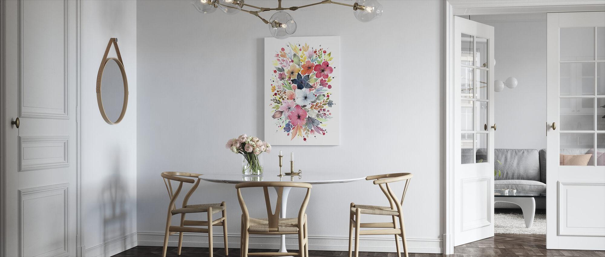 Flower Bouquet - Canvas print - Kitchen