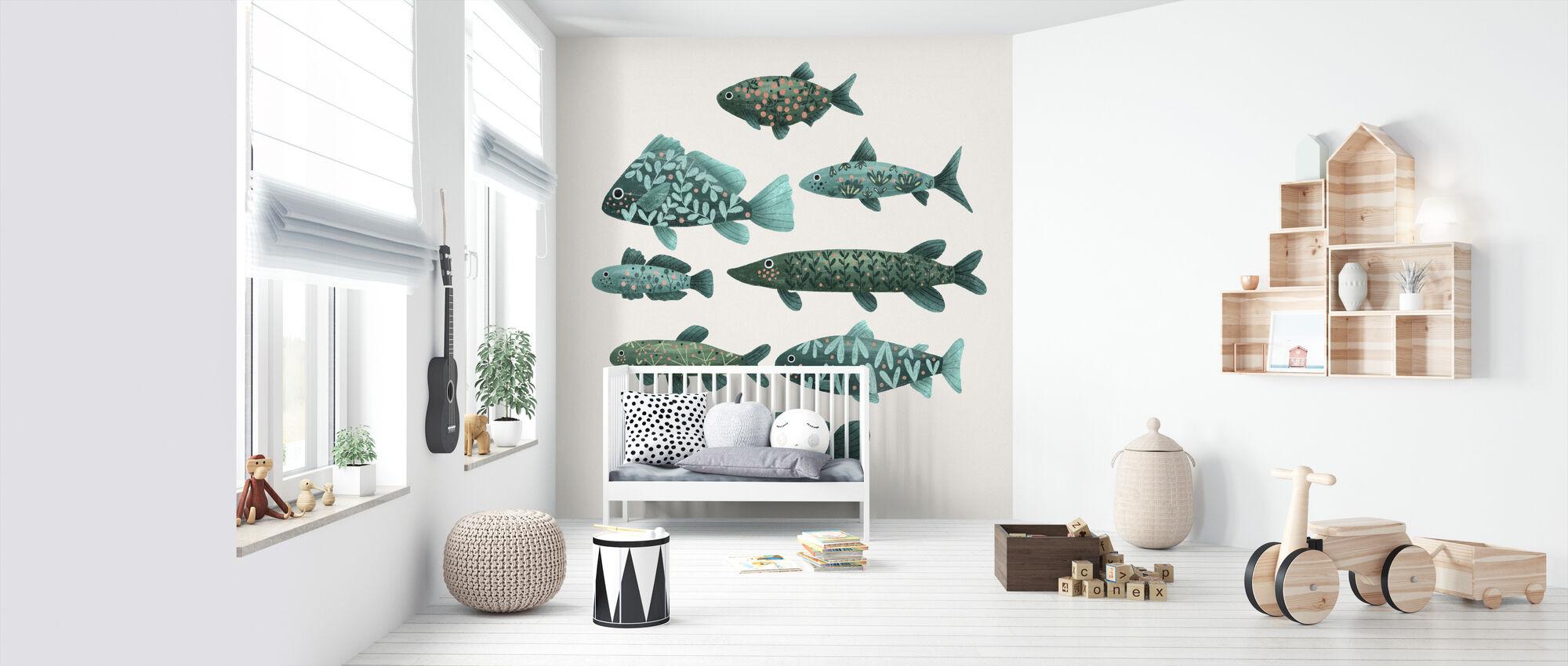 Fish - Wallpaper - Nursery