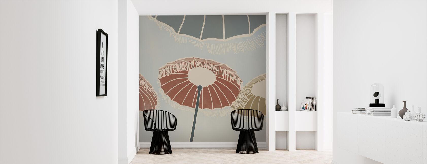 On the Beach - Umbrellas - Wallpaper - Hallway