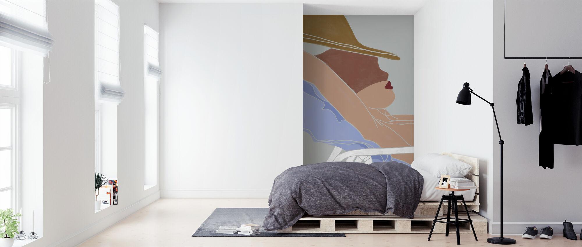 On the Beach - Sun Rays - Wallpaper - Bedroom