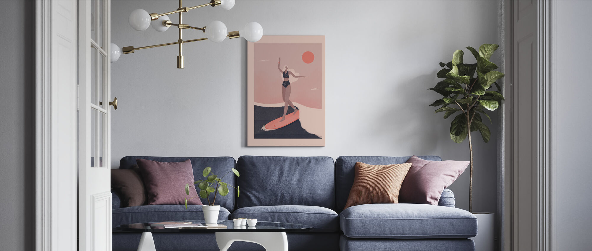 Into the Surf - Canvas print - Living Room