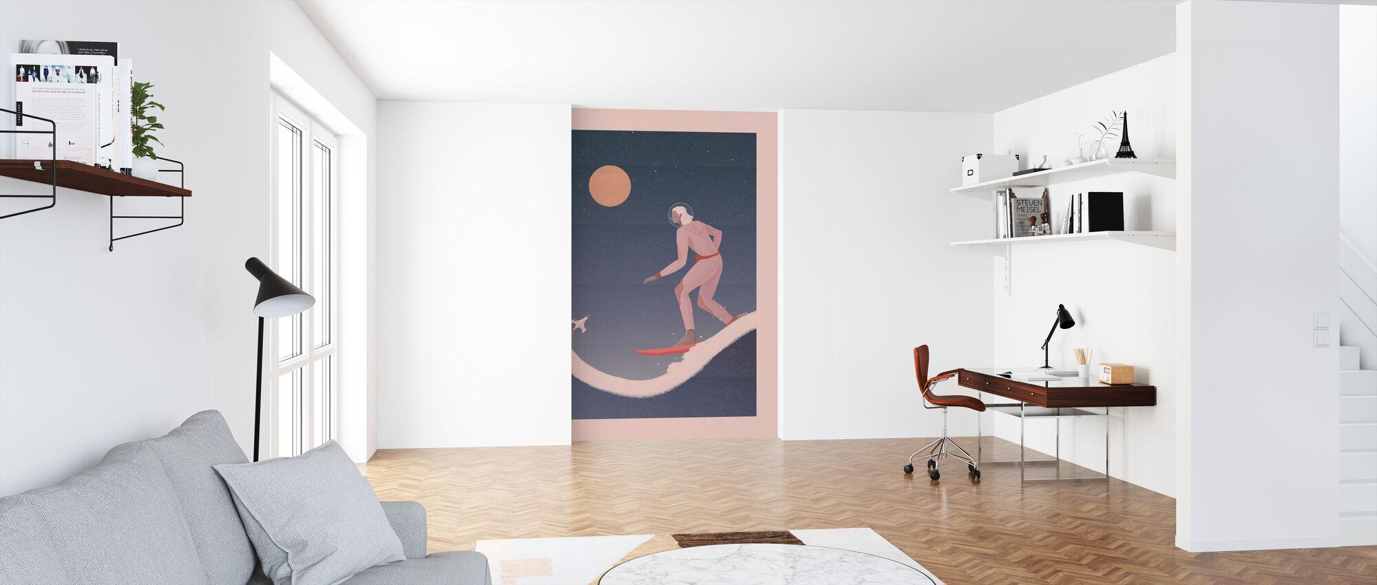 Surfen op andere planeten - Behang - Kantoor
