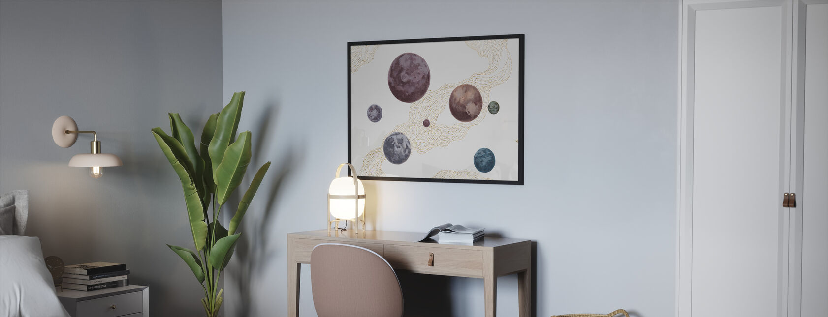 Into the Space - Framed print - Bedroom