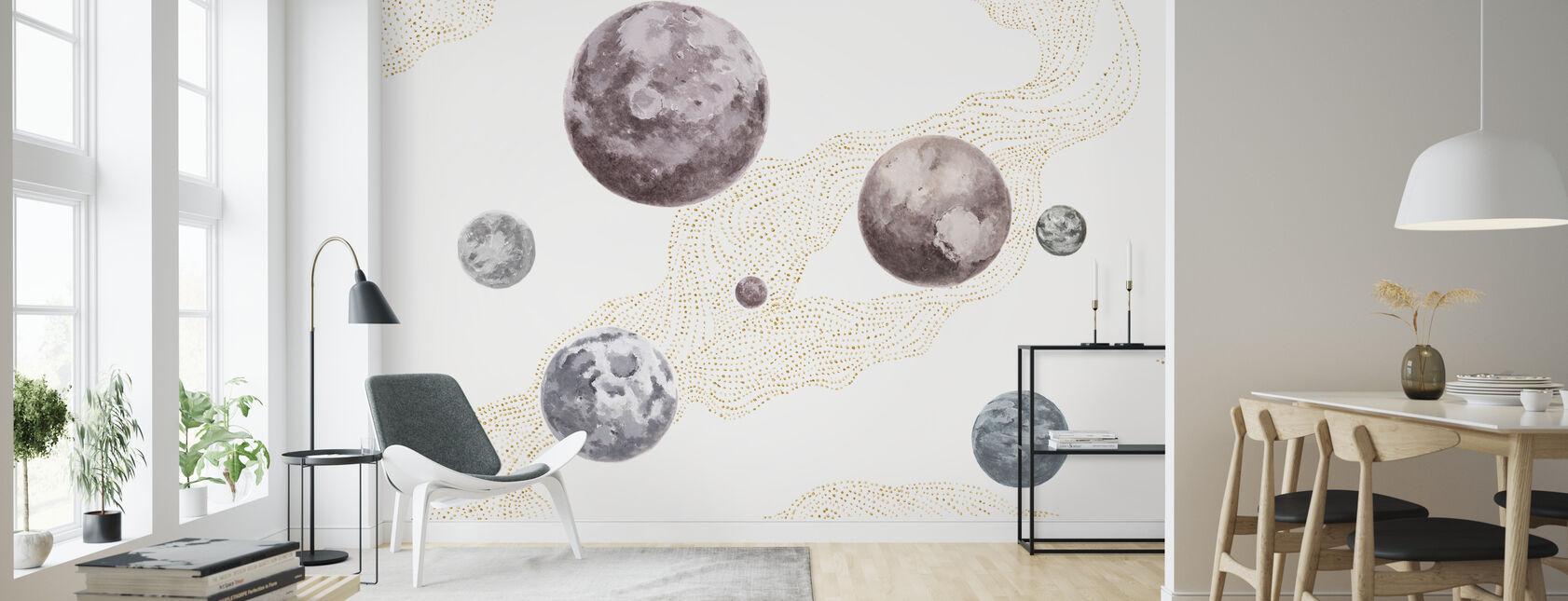 Dans l'espace - Gradé - Papier peint - Salle à manger