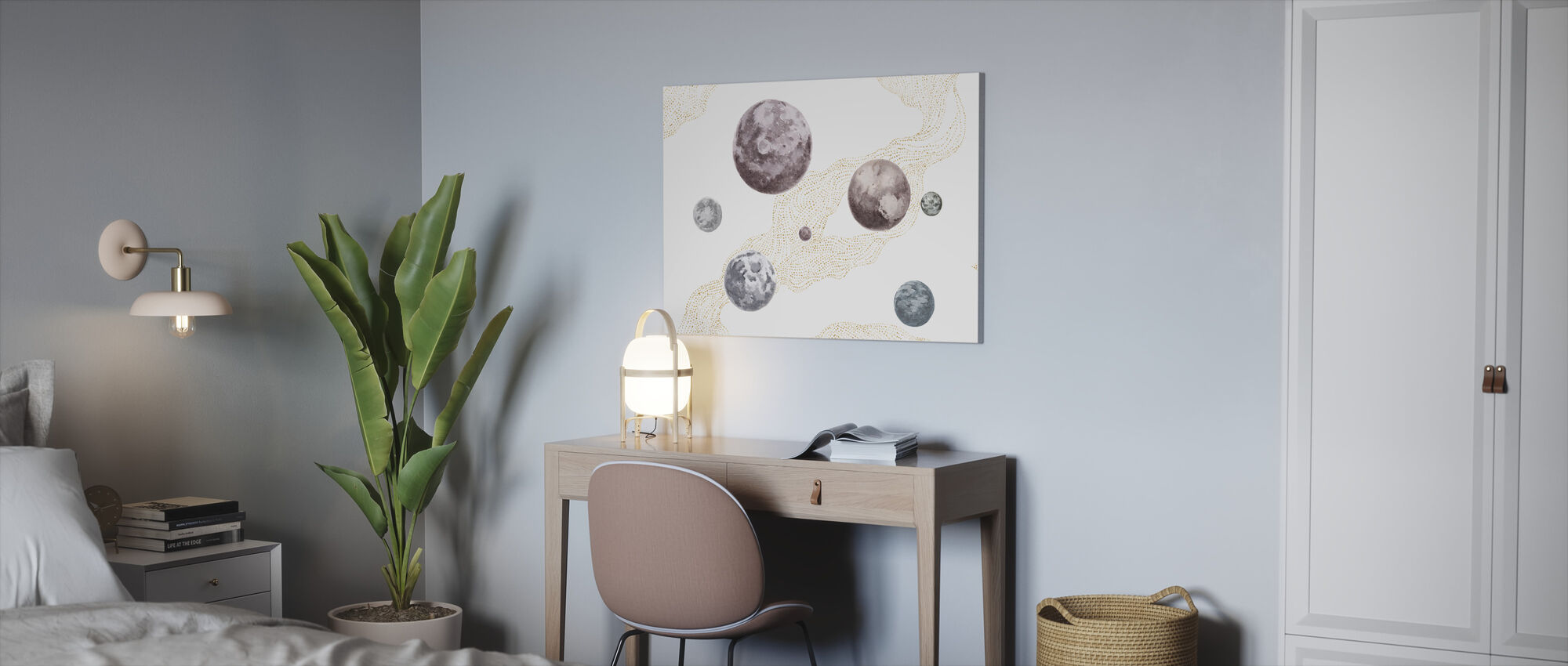 Into the Space - Dimmed - Canvas print - Office