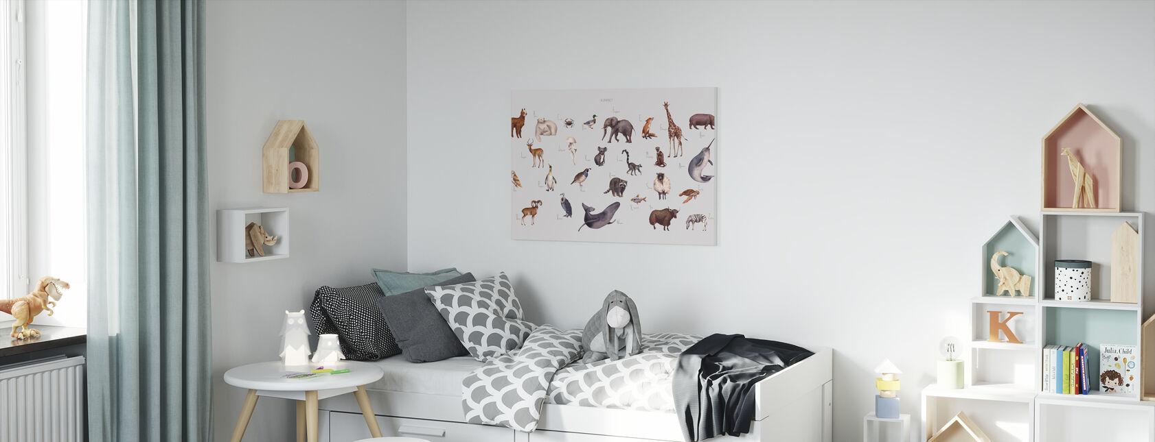 Alfabeto animale - luminoso - Stampa su tela - Camera dei bambini