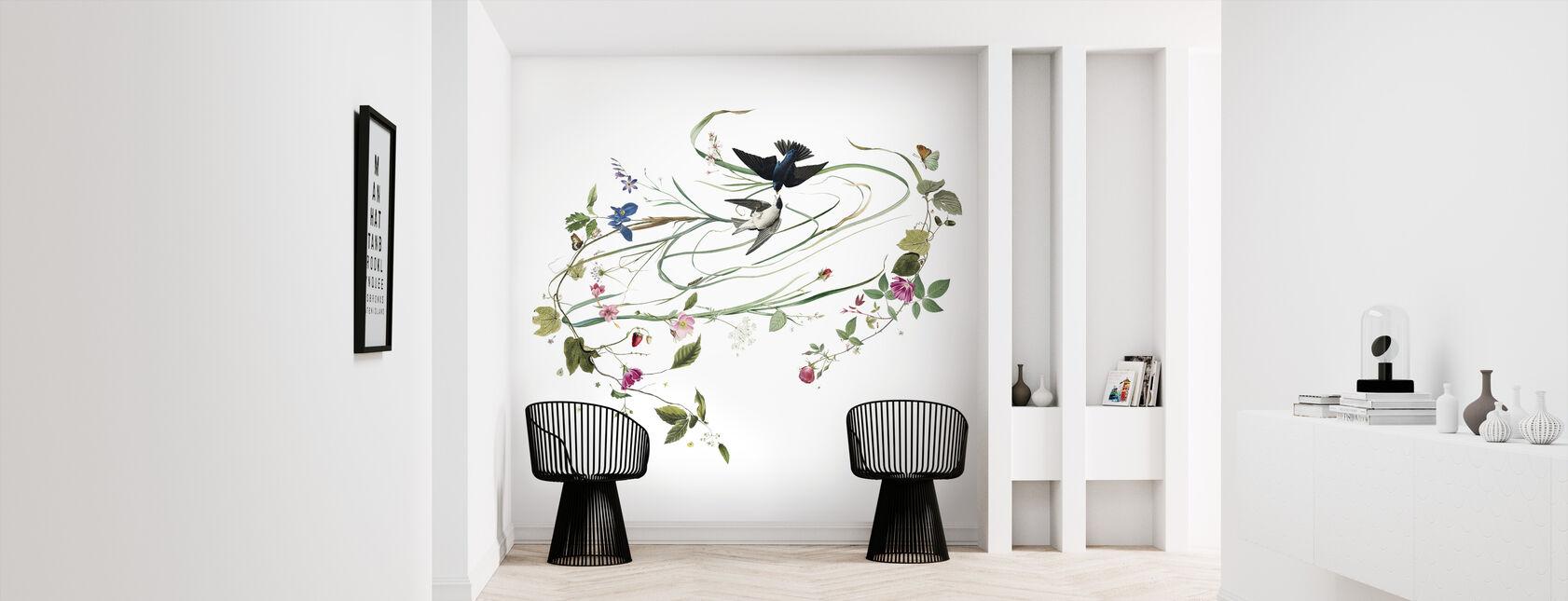 Hayfever - Crisp White - Wallpaper - Hallway