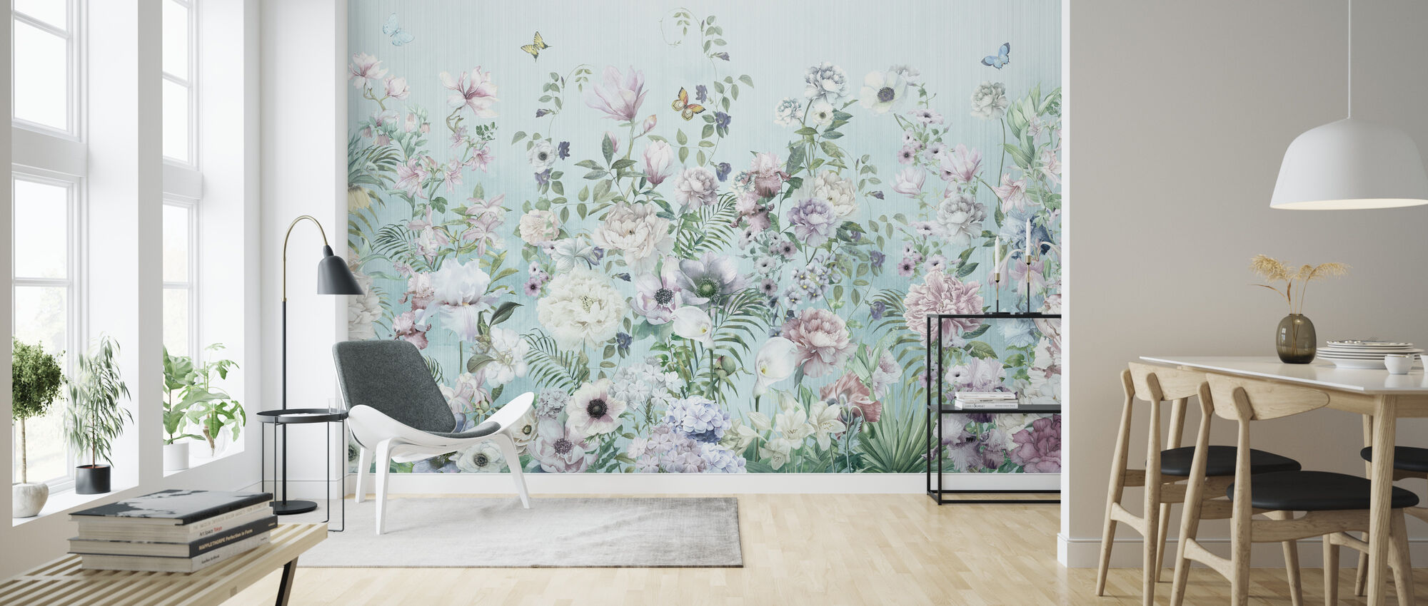 Blooming Floral - Wallpaper - Living Room