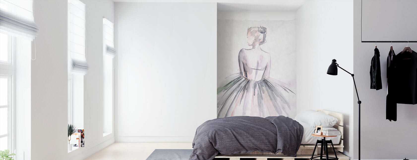 Watercolor Ballerina - Wallpaper - Bedroom