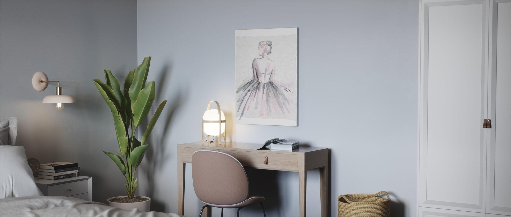 Akvarell Ballerina - Lerretsbilde - Kontor
