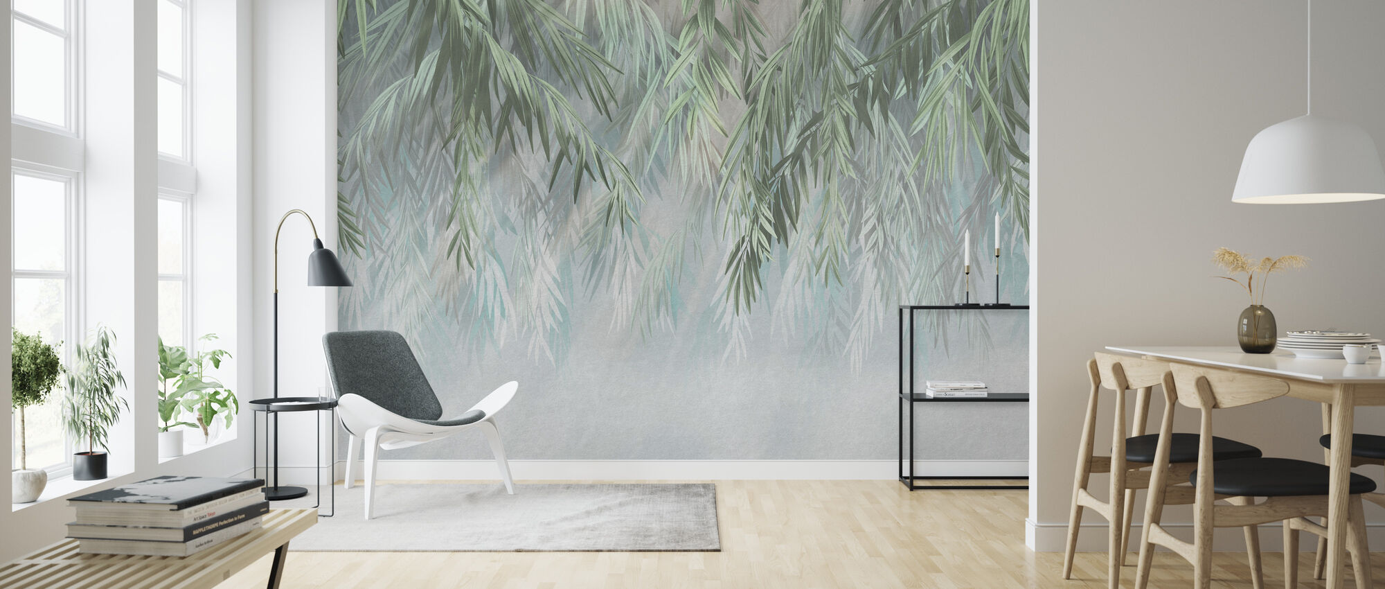 Tropical Gleam - Wallpaper - Living Room