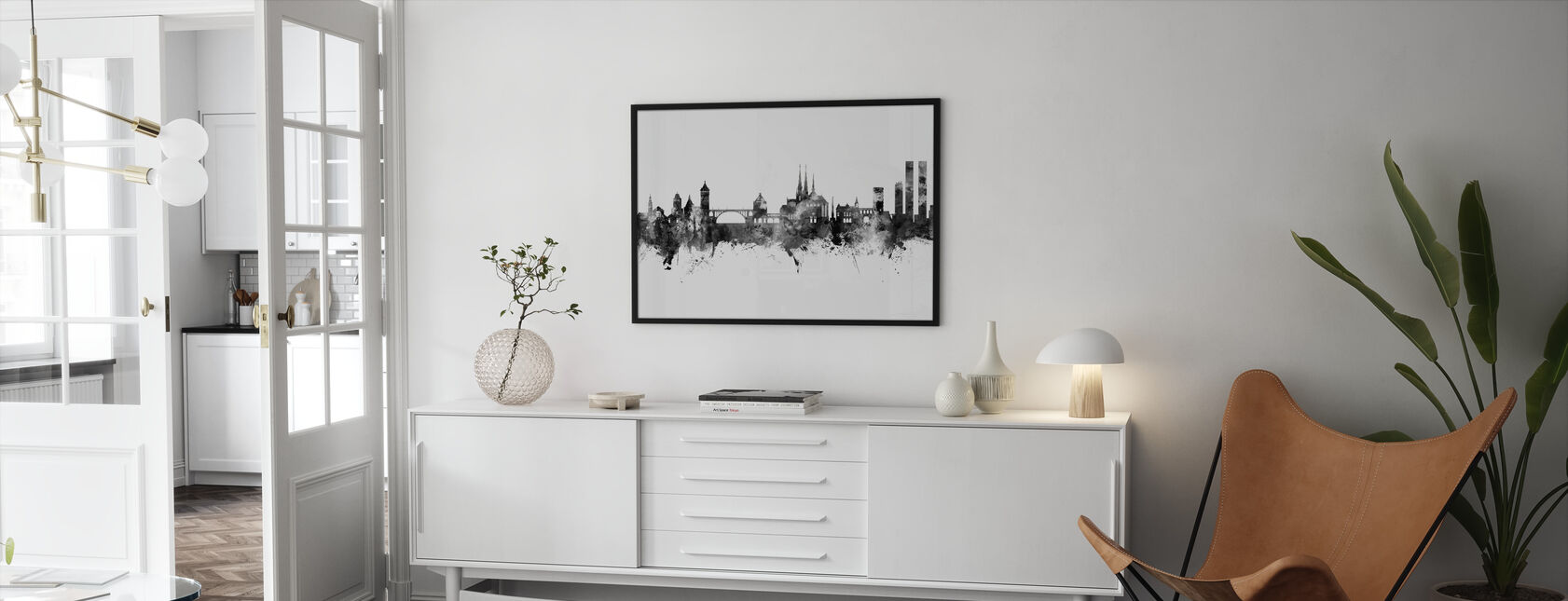 Luxembourg City Skyline - Framed print - Living Room