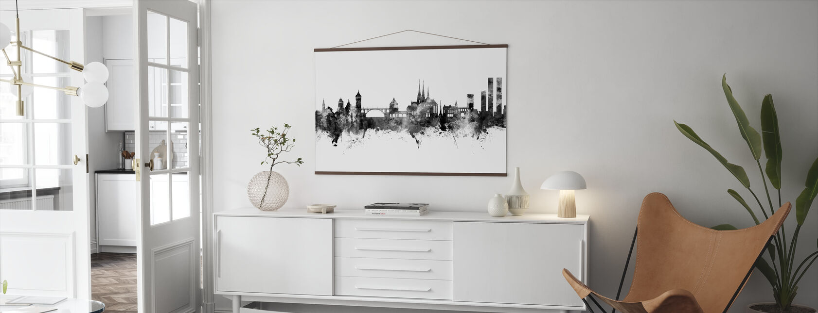 Luxembourg City Skyline - Poster - Living Room
