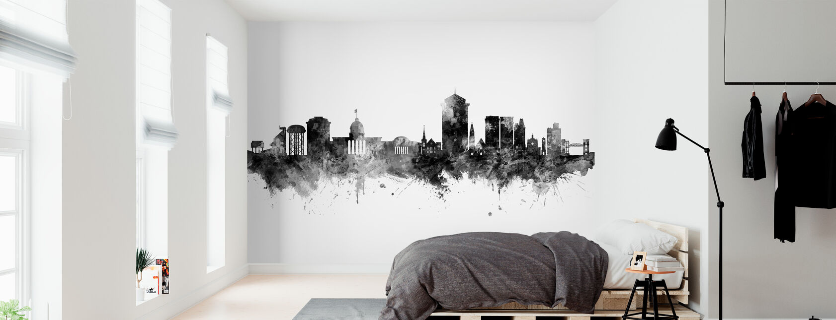 Montgomery Alabama Skyline - Wallpaper - Bedroom