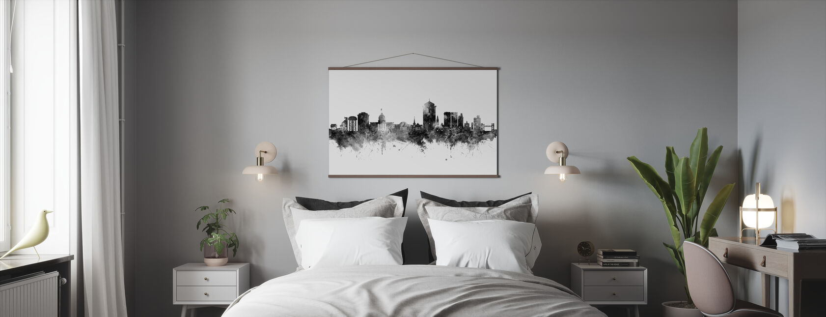 Montgomery Alabama Skyline - Poster - Bedroom