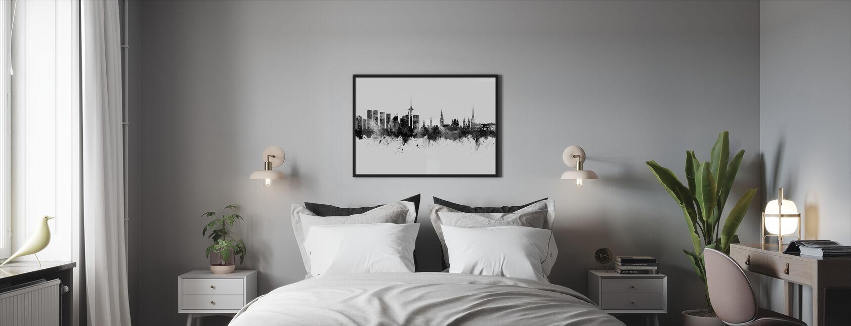 Tallinn Estonia Skyline - Framed print - Bedroom
