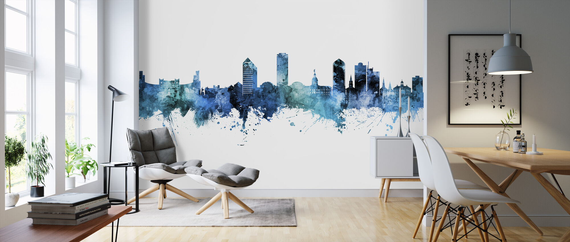 Tallahassee Florida Skyline - Wallpaper - Living Room