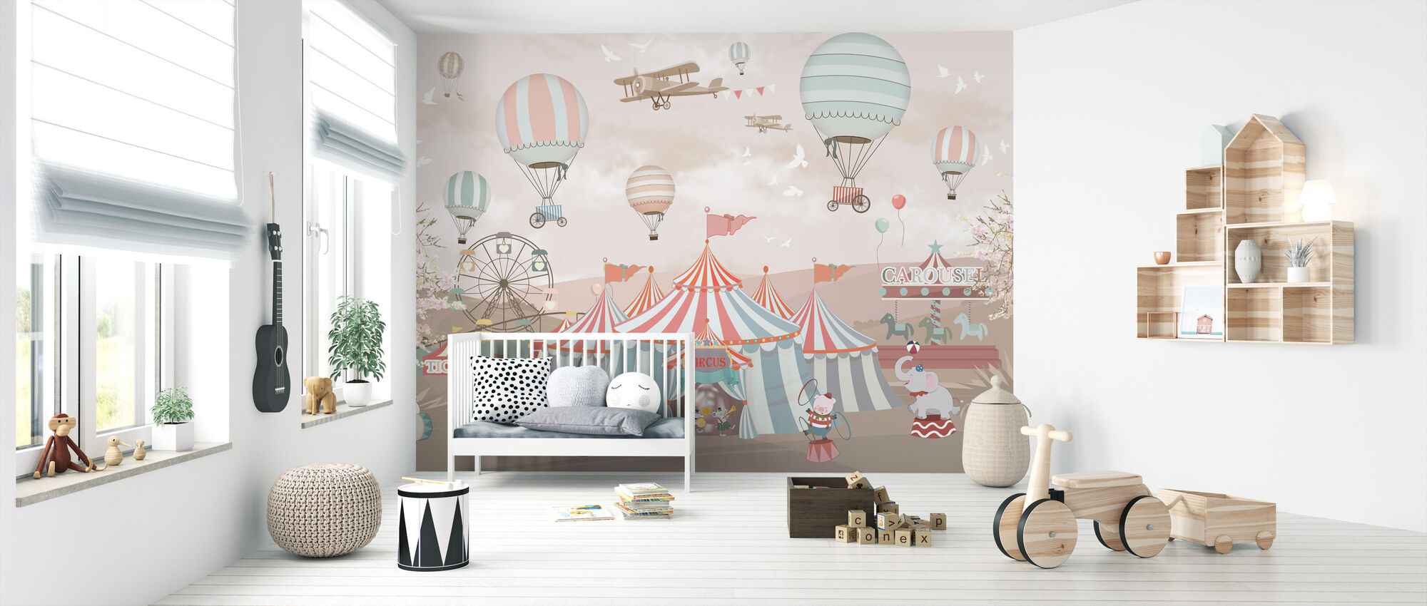 Circus Animals - Wallpaper - Nursery