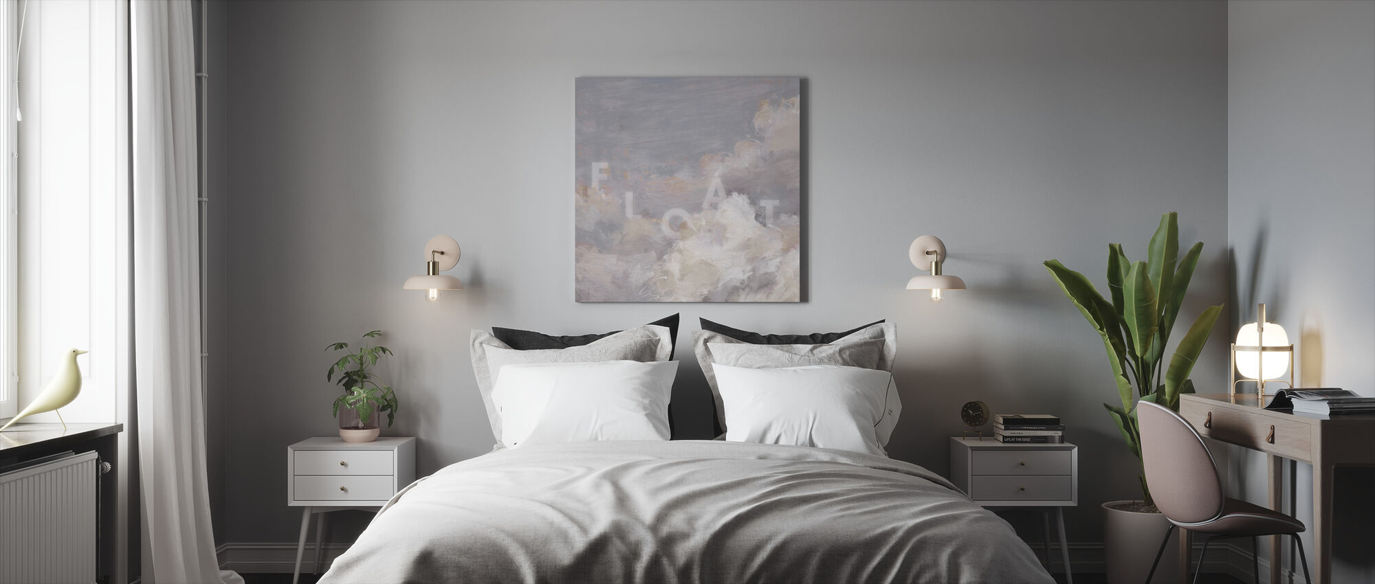 Daydream Neutral 05 - Canvas print - Bedroom