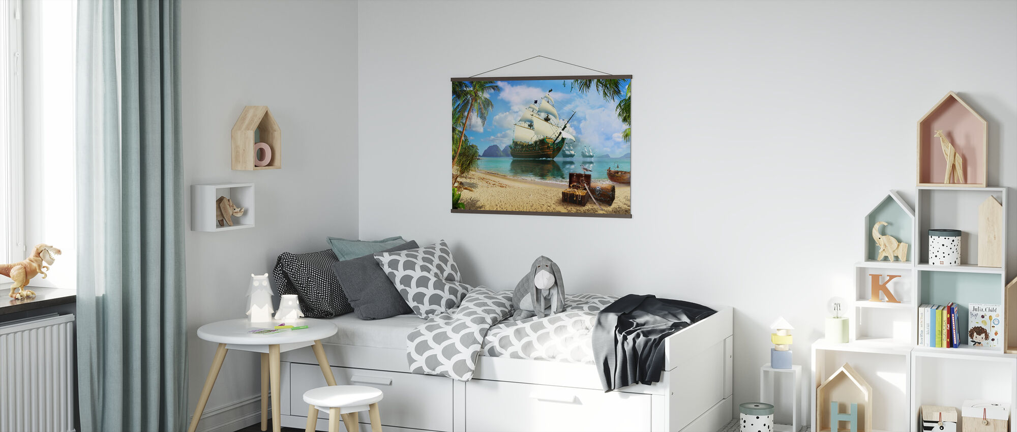 Pirate Treasure Island - Poster - Kids Room