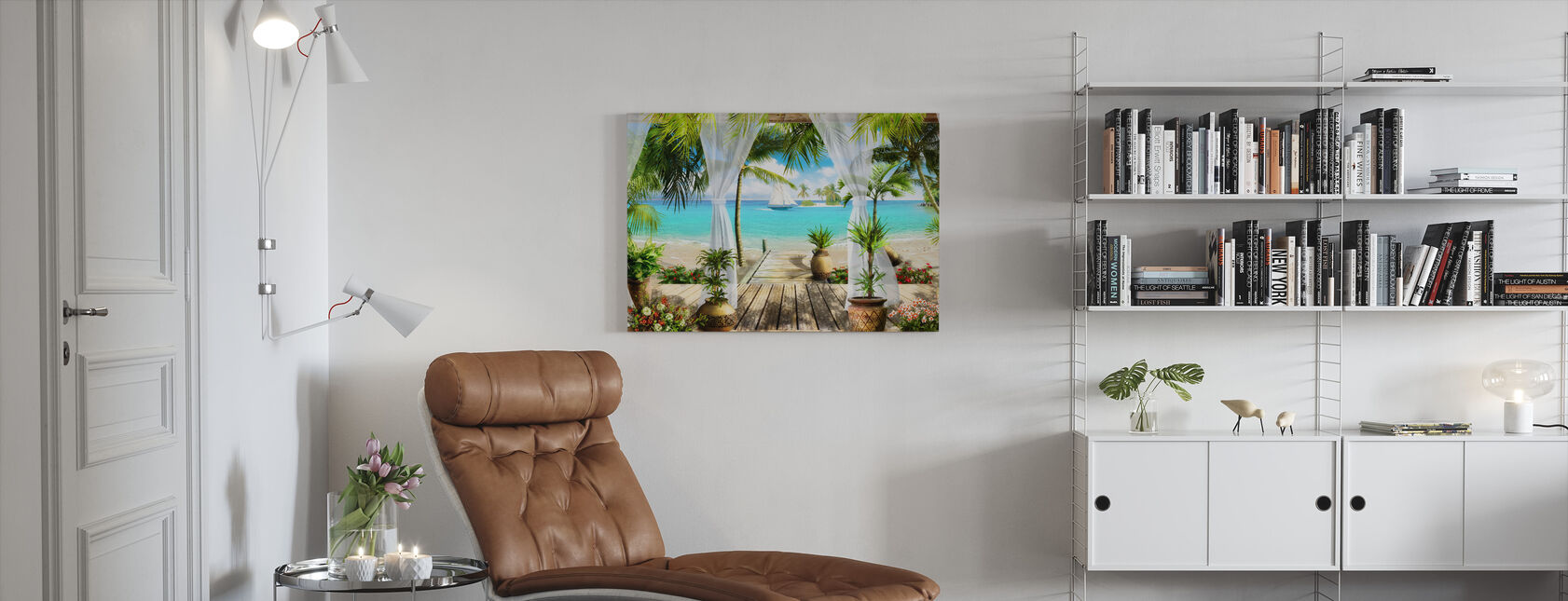 Paradise Infront of the Sea - Canvas print - Living Room