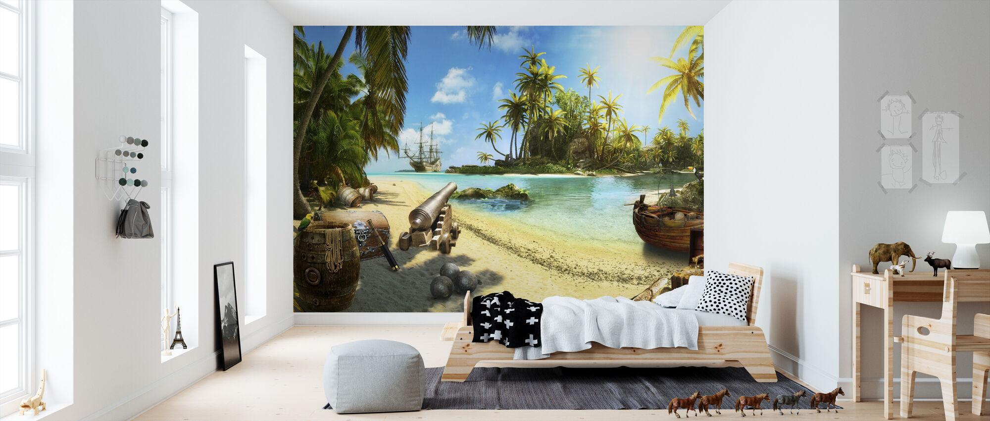 Pirate Island - Tapet - Barnrum