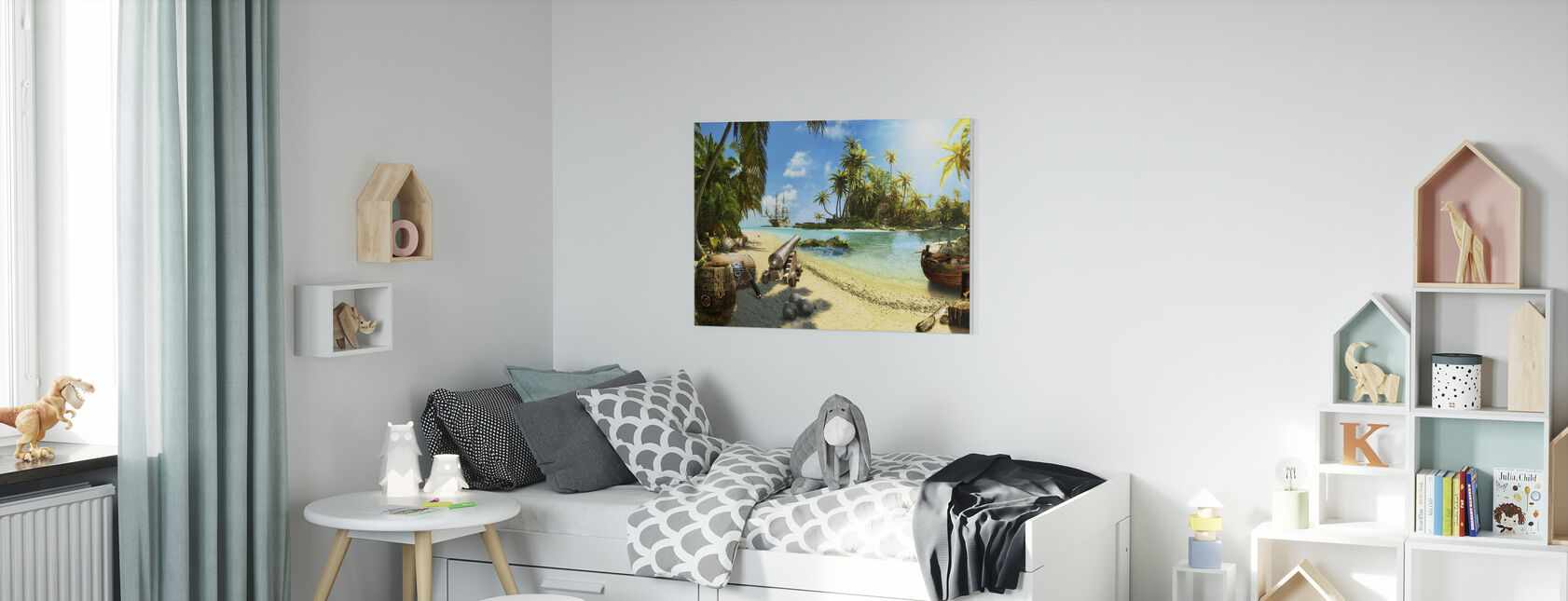 Pirate Island - Canvas print - Kids Room