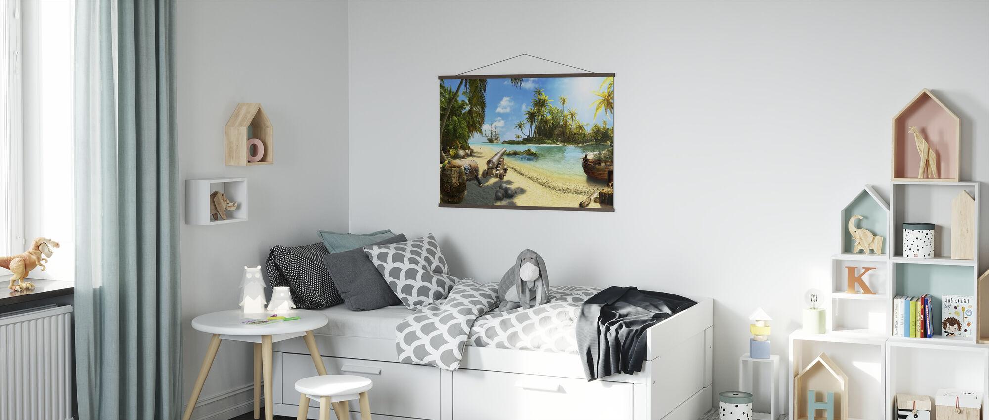 Pirate Island - Poster - Kids Room