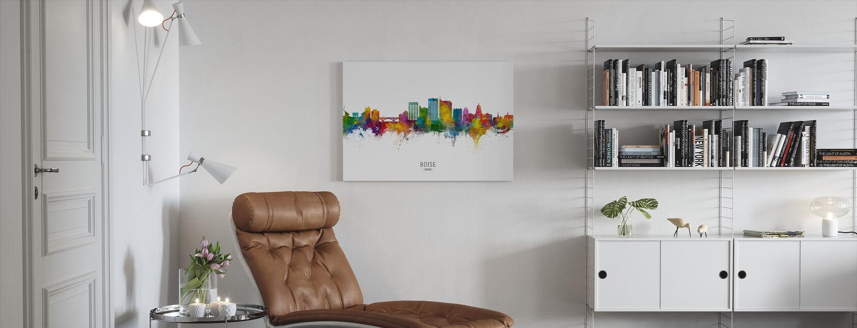 Boise Idaho Skyline - Canvas print - Living Room