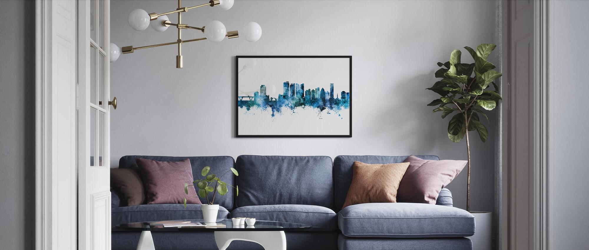 Fort Lauderdale Florida Skyline - Framed print - Living Room