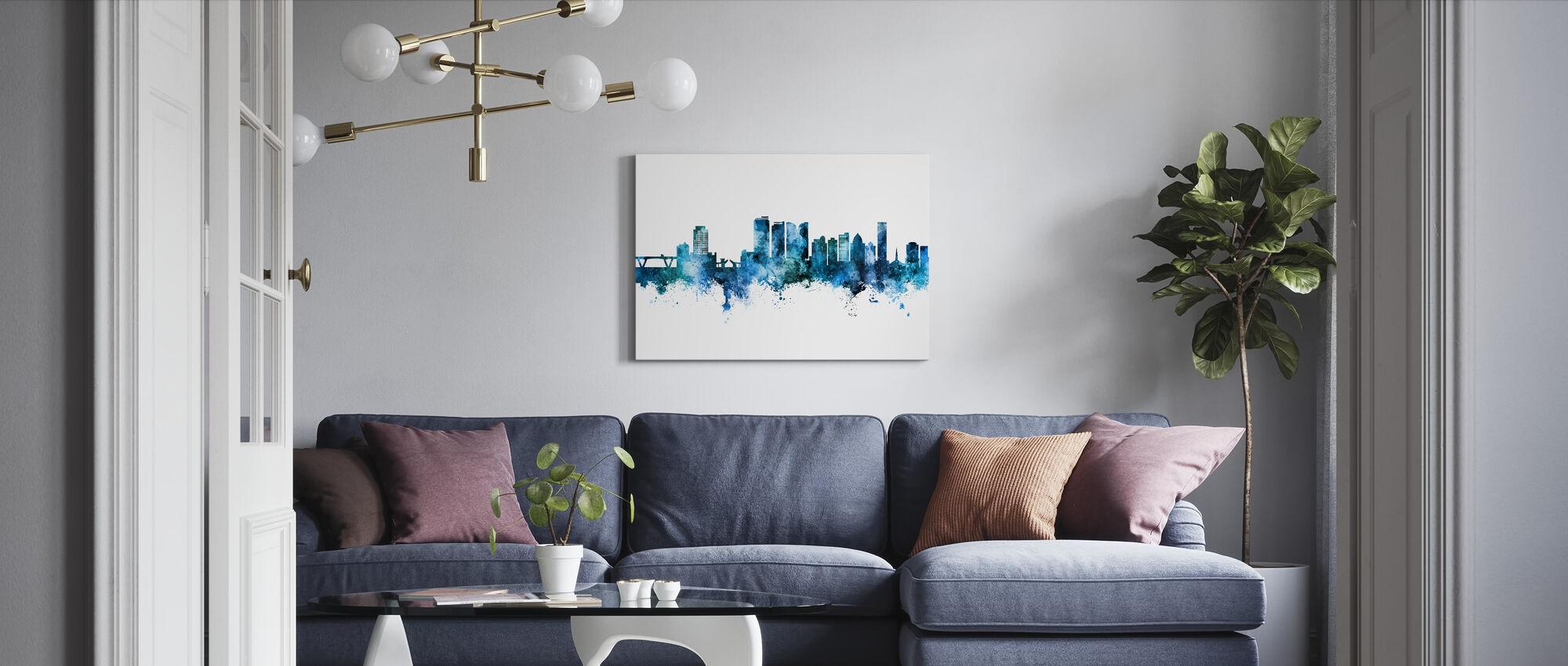 Fort Lauderdale Florida Skyline - Canvas print - Living Room