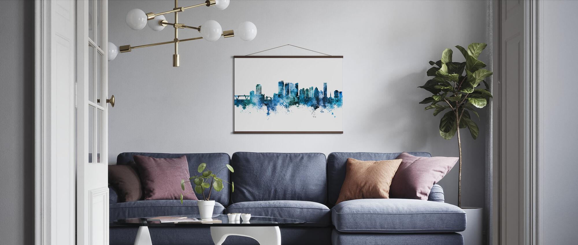 Fort Lauderdale Florida Skyline - Poster - Living Room