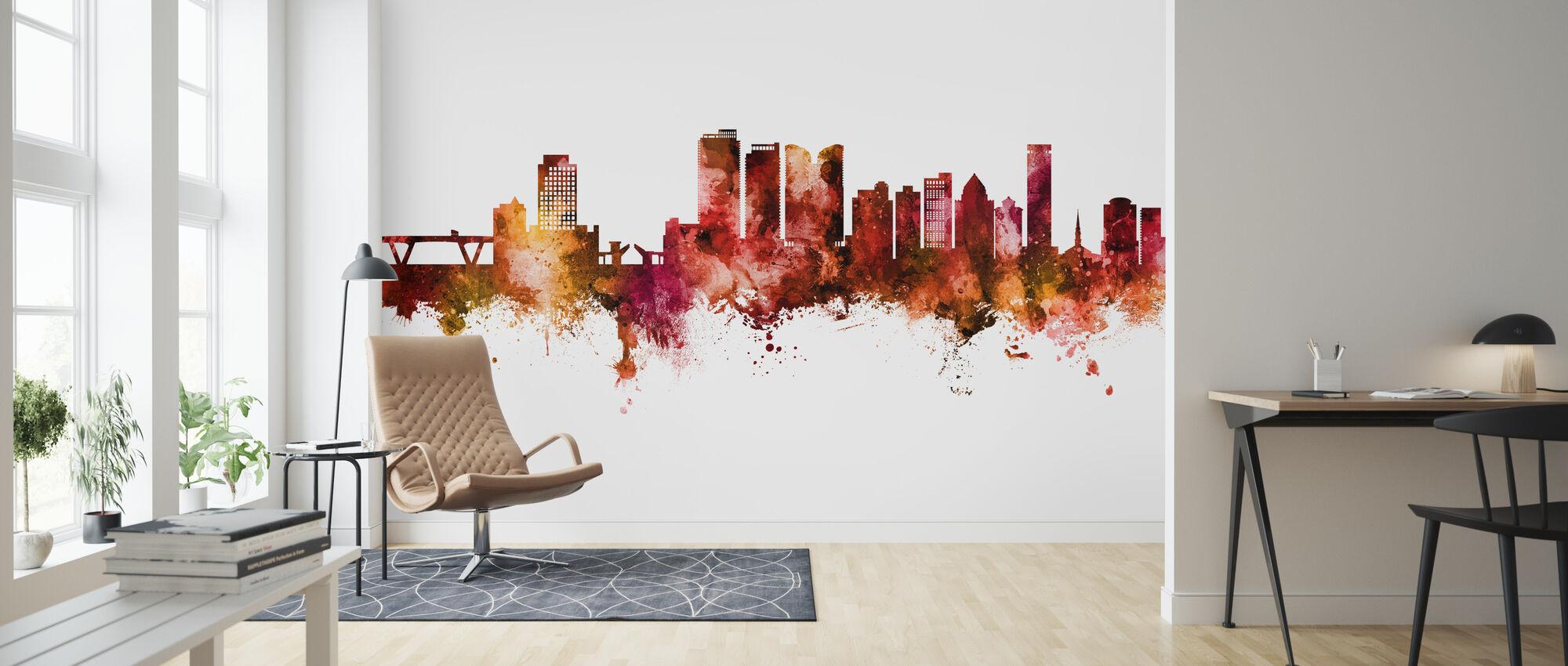 Fort Lauderdale Florida Skyline - Wallpaper - Living Room