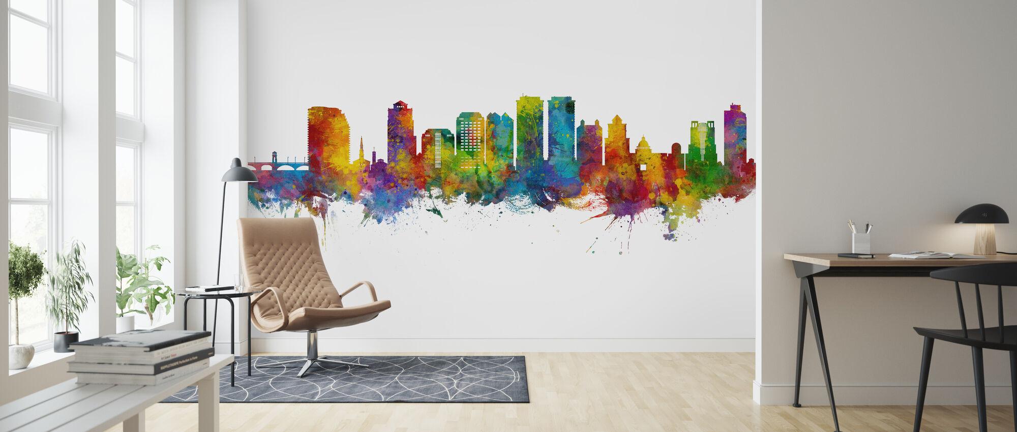 West Palm Beach Florida Skyline - Wallpaper - Living Room