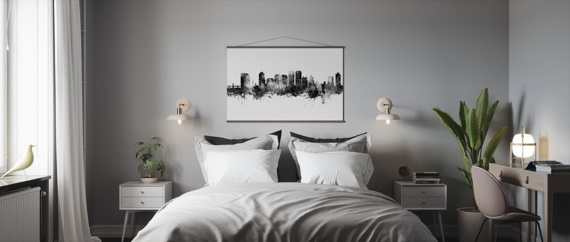 West Palm Beach Florida Skyline - Poster - Bedroom