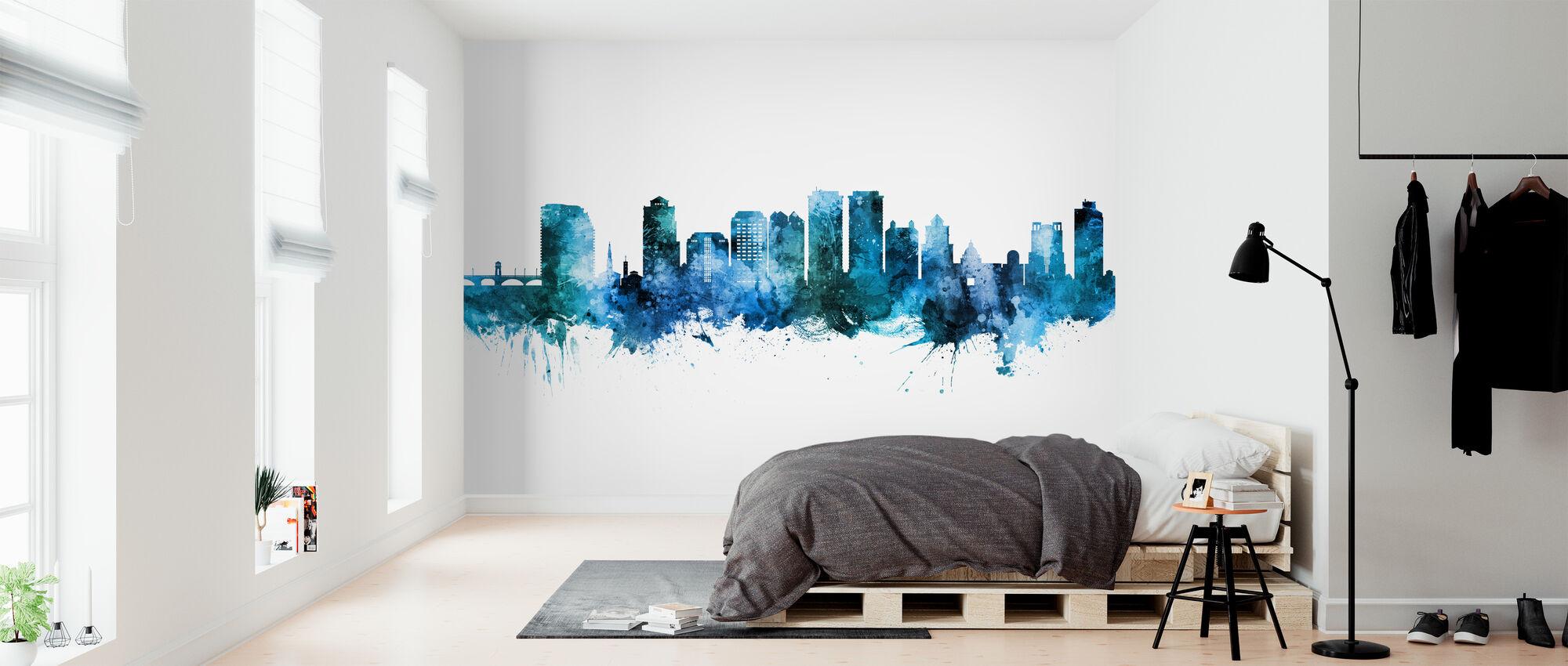 West Palm Beach Florida Skyline - Wallpaper - Bedroom