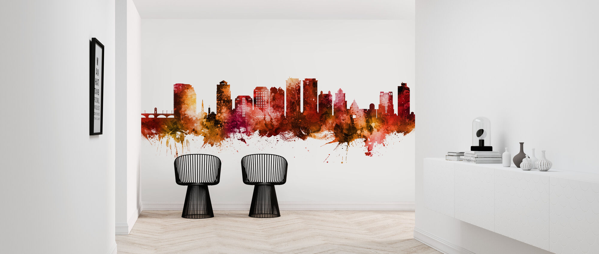 West Palm Beach Florida Skyline - Wallpaper - Hallway