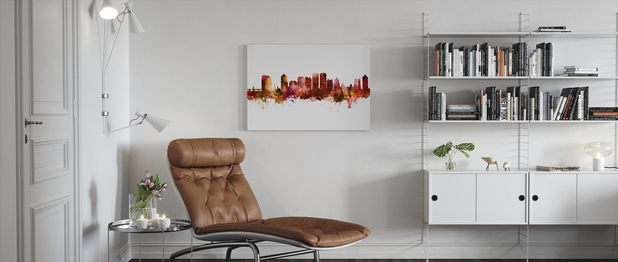 West Palm Beach Florida Skyline - Canvas print - Living Room