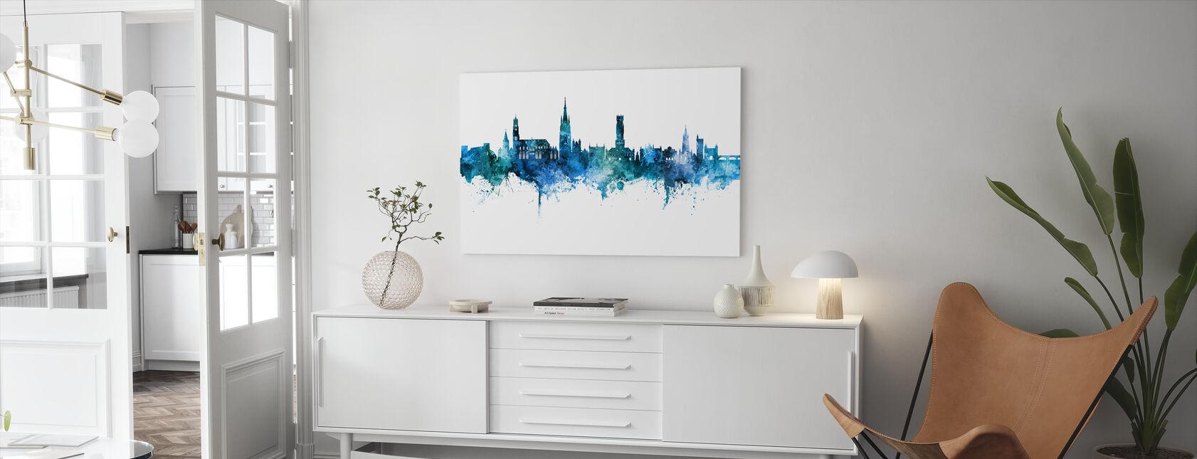 Brugge Belgias Skyline - Lerretsbilde - Stue