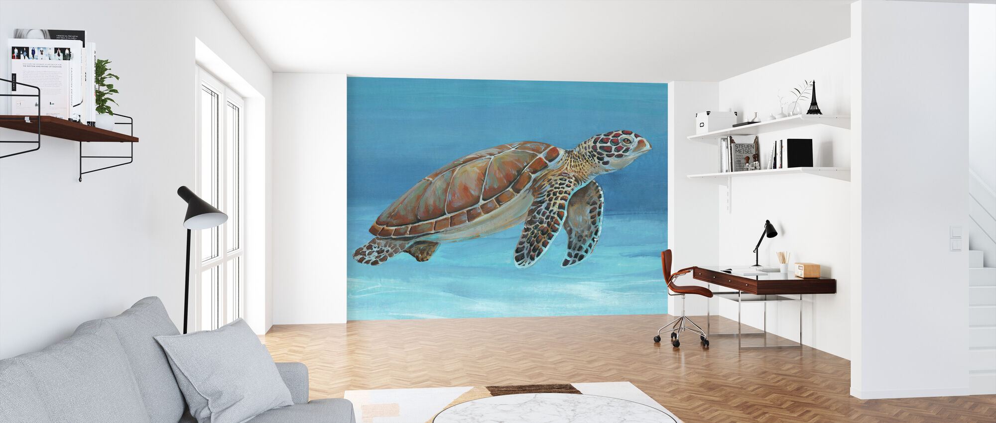 Ocean Sea Turtle - Wallpaper - Office