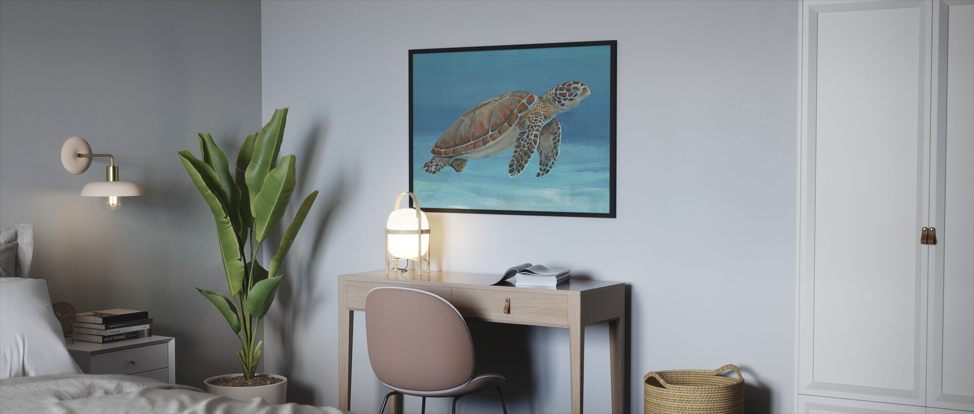 Ocean Sea Turtle - Framed print - Bedroom