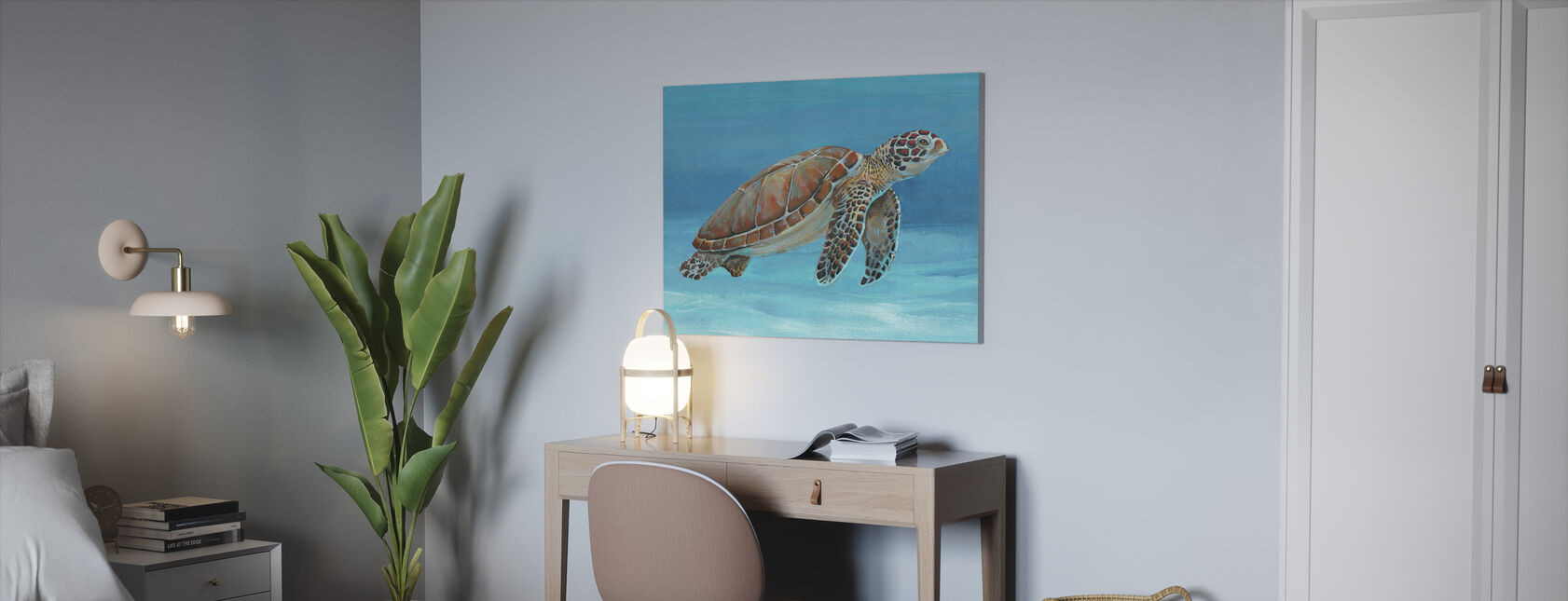 Ocean Sea Turtle - Canvas print - Office