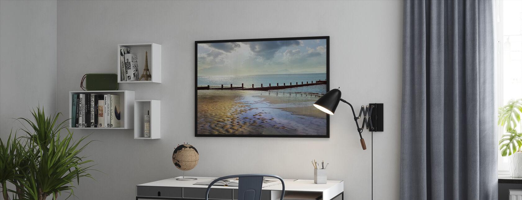 Beachline Zonnig Uitzicht - Ingelijste print - Kantoor