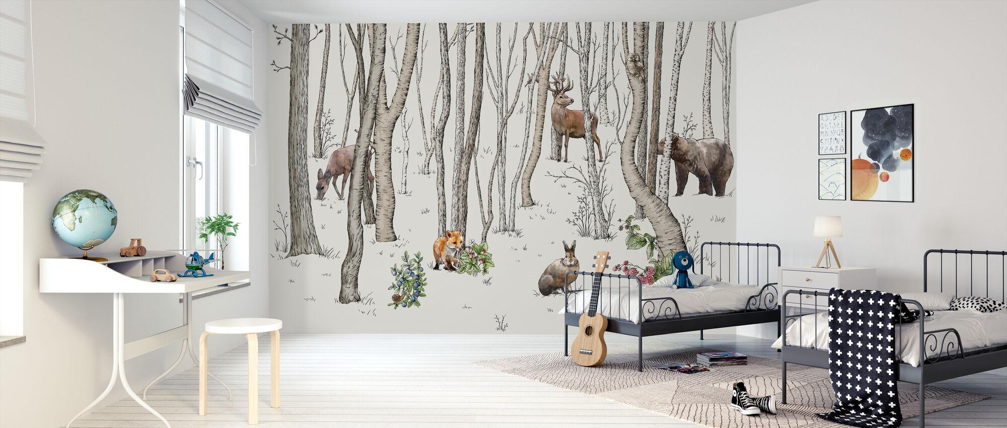 Metsän eläimet - Tapetti - Lastenhuone