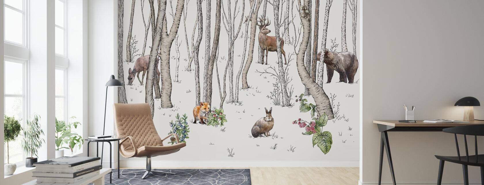 Metsän eläimet - Tapetti - Olohuone