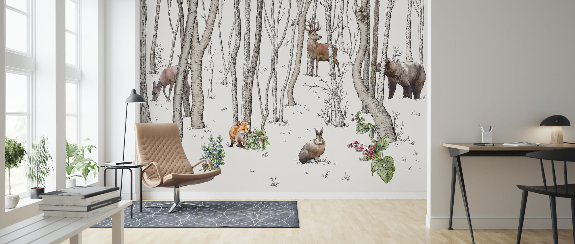Animals of the Forest - Wallpaper - Living Room